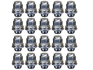 20-x-Chrome-Flat-Seat-OEM-Alloy-Wheel-Nuts-fits-Mitsubishi-EVO-1-2-3-4-5