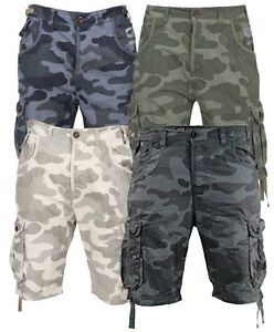 New-Mens-Designer-Smith-amp-Jones-Fin-Camouflage-Cargo-Shorts-Pants