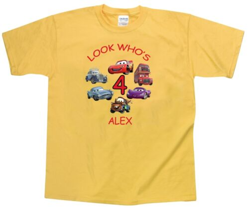 Cars Personalized Custom Birthday Shirt in 8 Different Colors 2T to Adult XXL