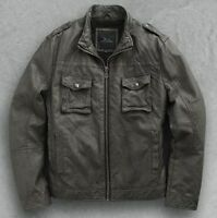 Marc Anthony Motorcycle Jacket In Pepper- Size Extra Large - Men's