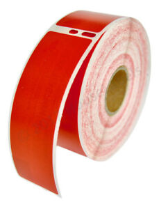 1 roll of 350 red address labels for dymo labelwriters 30252