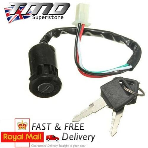 Motorcycle Moped Ignition Key Switch 2 Wire On//Off Metal ATV Dirt Bike Motorbike