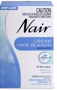 facial bleach Nair