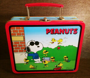 Vintage-Metal-Lunch-Box-Rare-Joe-Cool-Peanuts-Snoopy