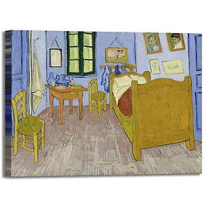 Van Gogh la camera da letto design quadro stampa tela dipinto telaio ...