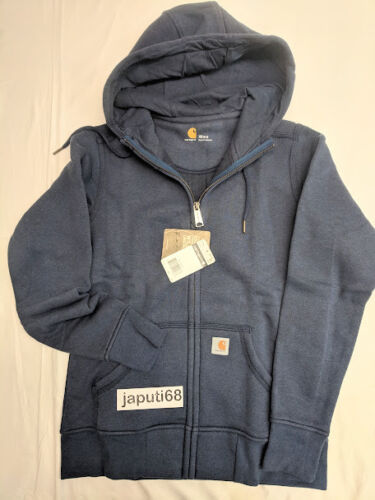 BX76-2189 Carhartt Ladies Sandpointe  Zip Front Sweatshirt sz 2X Indigo