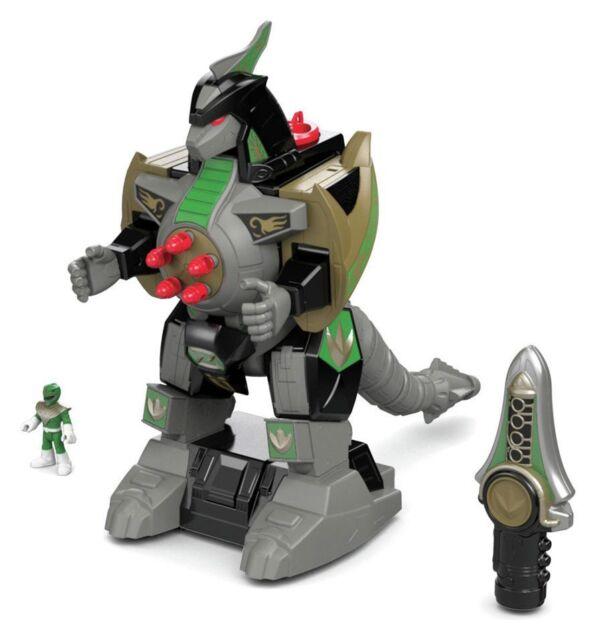 Imaginext Power Rangers Green Range N Dragonzord 3+ Years