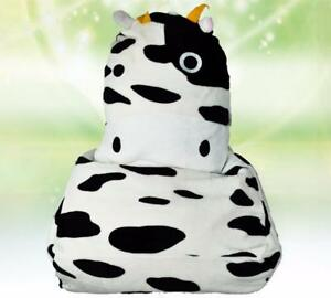 Peachy Details About Cow Black White Large Size Bean Bag Sofa Cover Chair Adult Baby Children Squirreltailoven Fun Painted Chair Ideas Images Squirreltailovenorg