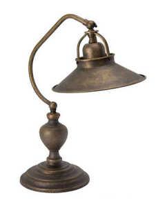 Lampada-da-tavolo-Scrittoio-in-ottone-con-paralume-a-parabola