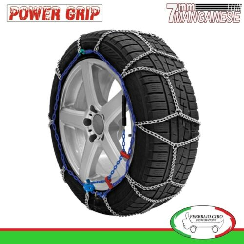 Catene Neve Power Grip 7mm Omologate gruppo 130 gomme 225//60r17 Jeep Compass II