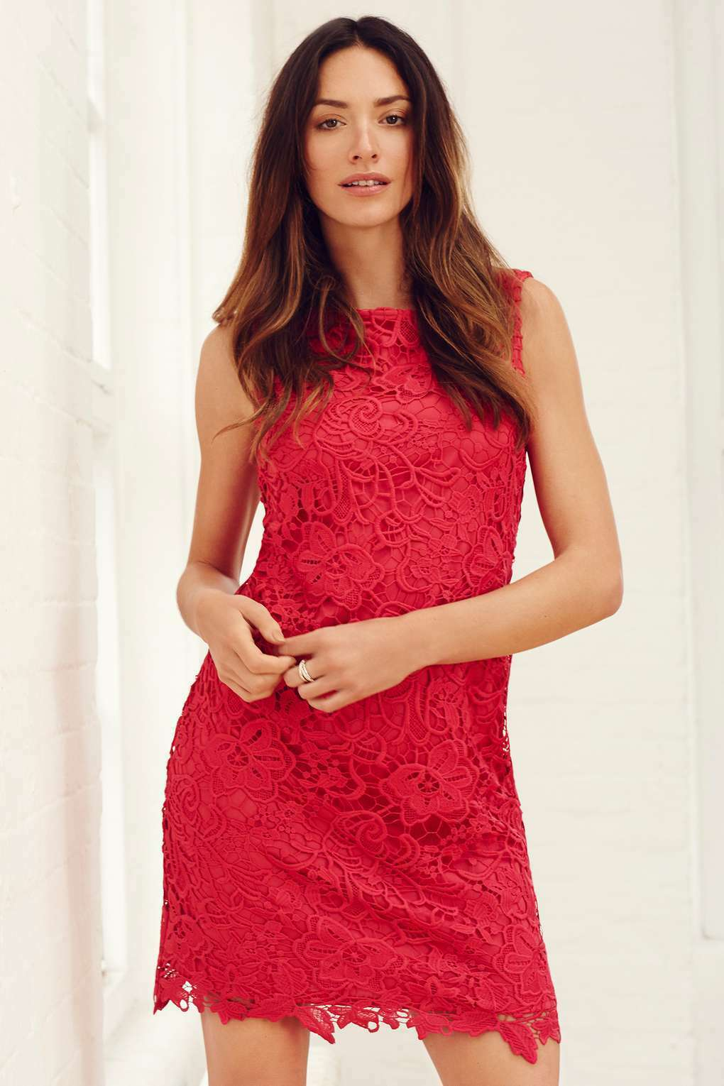 BNWT Stunning Pink Floral  Lace Dress 12
