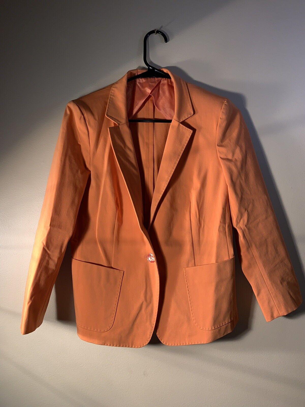 "MaxMara orange Blazer Size S Length 23"" Max Mara"