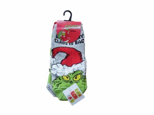 Ladies Christmas Grinch Socks Primark Shoe Liners Trainer Stocking Filler Xmas