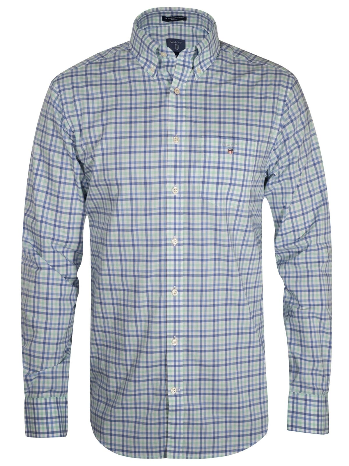 GANT Spearmint Gingham Long-Sleeve Shirt
