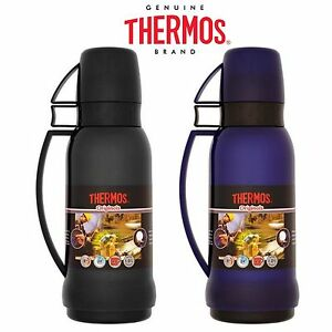 thermos originals 1 litre drinks flask cup glass vacuum insulated bottles ebay. Black Bedroom Furniture Sets. Home Design Ideas