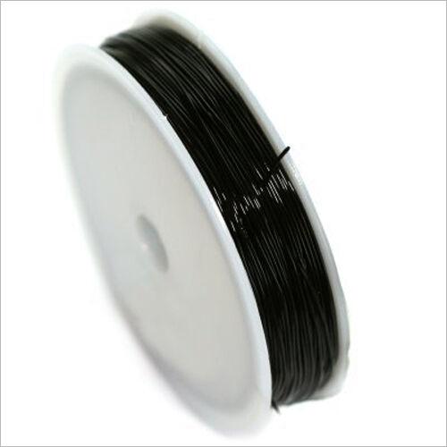 18 Mètres Noir pour création de bijoux Fil Cordon Elastique de Nylon 0,8mm