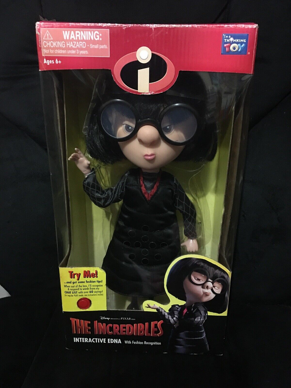 Incredibles Incredibles Incredibles Interactive Edna With Voice Recognition 2003 74f450