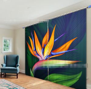Hoja de Color de 3D 34 Cortinas de impresión de cortina de foto Blockout Tela Cortinas Ventana Reino Unido