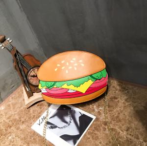 Women-Girl-Cute-Hamburger-Satchel-Shoulder-Crossbody-Messenge-Handbag-Bag-Purse