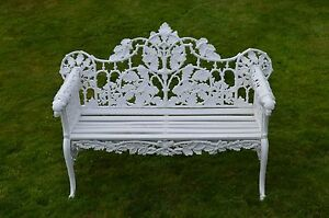 Image Is Loading 3 Seater Cast Iron Garden Bench Colebrookdale Foundry
