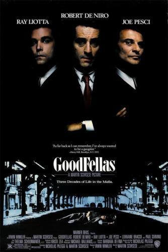 "Robert De Niro Classic Film Goodfellas Movie Art Poster 40x27 36x24 18x12/"" Size"