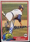1981 Topps Lary Sorensen #379 Baseball Card