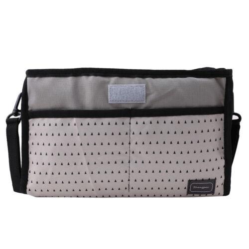 Portable Canvas Baby Cart Strollers Bag Organizer Basket Pushchair Cup Bag QP