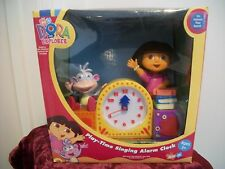 Brand New Dora The Explorer and Boots Singing Alarm Clock Gift Watch