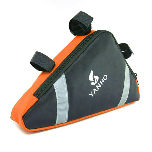 1X Utility Bike Bicycle Front Tube Frame Pouch Bag Holder Saddle Pannier Hot!