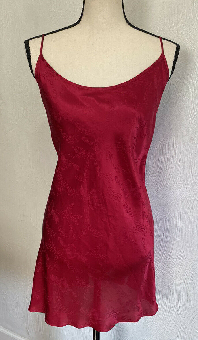 August Silk Women's Sexy Red Floral Chemise Night… - image 4