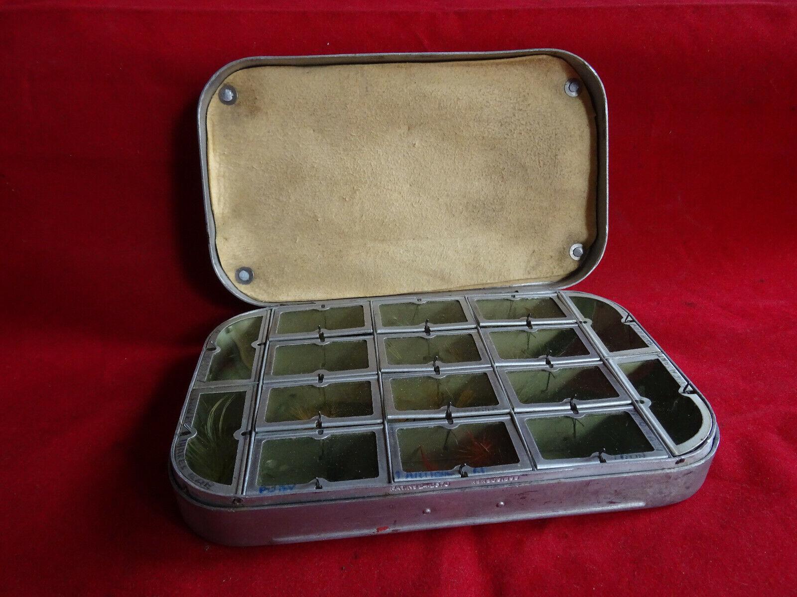 GOOD vintage primi Wheatley 16 finestra trossoa Dry Pesca a Mosca Scatola mosche