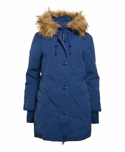 New Down Rookie Giacca Womens Deep Royal Superdry Large taglia Unique Parka Sample kTPwZuOXi