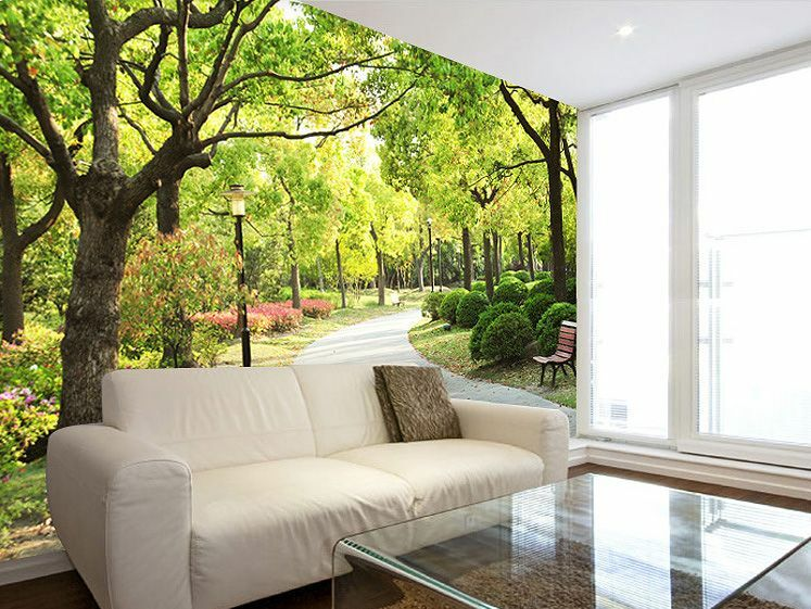 Park Trees Path 3D Wall Paper Print 505 Wall Decal Wall Deco Indoor Wall Murals