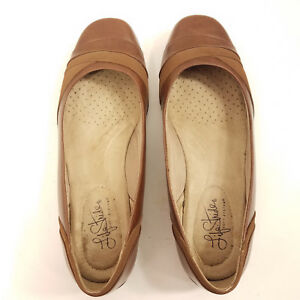 Life-Stride-Womens-size-9M-Round-Toe-Ballet-Flats-Soft-System