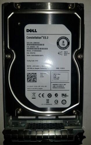 91K8T 091K8T ST33000650SS DELL 3TB 7.2K 6G LFF 3.5/'/' SAS HDD HARD DRIVE W//TRAY