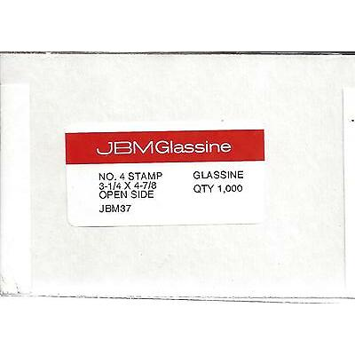 "Box of 1000 NEW JBM #4 Glassine Envelopes 3 1/4"" x 4 7/8"" FREE U.S. SHIPPING"