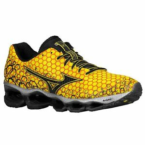 lowest price 4624c defaf Image is loading Mizuno-Wave-Prophecy-3-J1GC-400013-Cyber-Yellow-