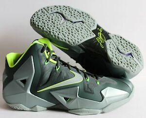 Athletic Shoes Nike Lebron 11 Xi Dunkman Green Volt Basketball Shoe 616175-300 Men's Size 11 100% Original Clothing, Shoes & Accessories