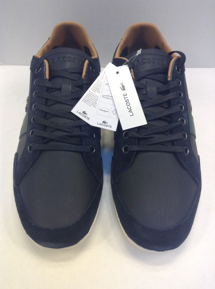 Lacoste Men 10 US Alisos 20 Leather Casual Sneaker Black  145 NIB New 7-28SRM