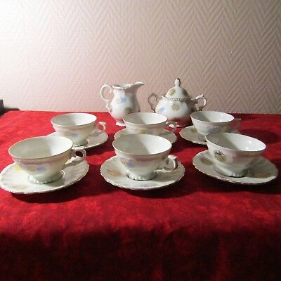 Suche Nach FlüGen 6 Tasse Kaffee- Aus Porzellan,zuckerdose Und Milchkännchen Porzellan Von Bavaria