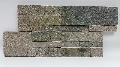 Baustoffe & Holz UnabhäNgig Musterstück Der Naturstein Schiefer Wandverblender Wengé Braun Riemchen 18x35cm Fassade