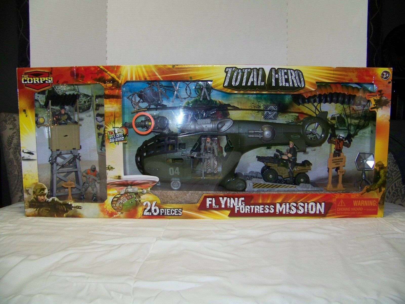 NEW LANARD THE CORPS TOTAL HERO FLYING FORTRESS MISSION 26 PIECE SET