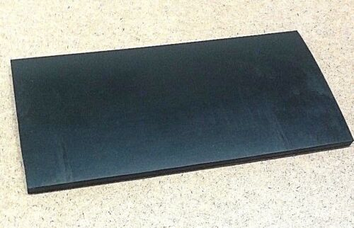 """Neoprene Rubber Sheet  Solid 3//8/"""" Thk x 8/"""" x 10/"""" Rect Pad  60 Duro"""