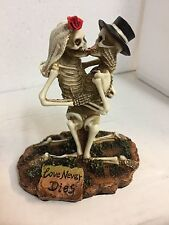 Love Never Dies Funny Zombie Wedding Cake Topper Bride Dragging