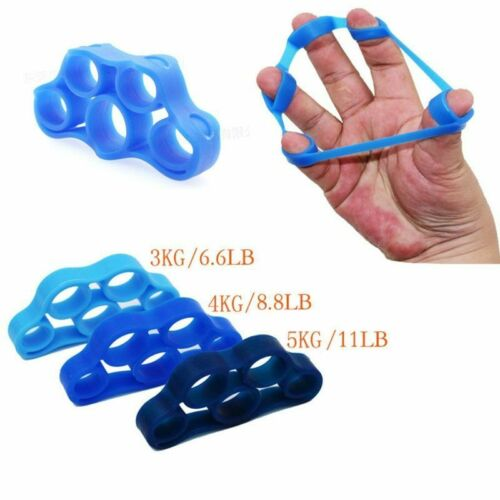 Silicone Finger Gripper Resistance Bands Hand Grip Stretcher Strength Trainer