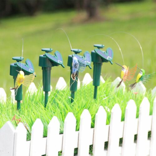 Solar Power Vibration Dancing Fly Flottant Hummingbird Bird Garden Yard decor