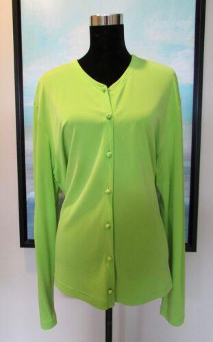 Shanghai Tang Silk Knit Chartreuse Green Mandarin