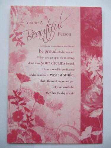 Magnifiquement formulée vous êtes une belle personne être Fiers de cartes de voeux