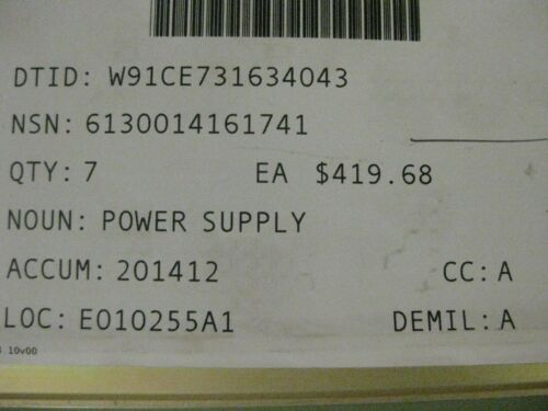 Acopian Regulated Power Supply p//n A24MT550   New