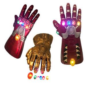 NEW-Thanos-Infinity-Gauntlet-Gloves-Hulk-LED-Light-Avengers-Iron-Man-Cosplay-PVC